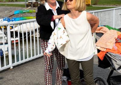 """""""backstage"""" – Margarete hat sich für dieses Shooting natürlich x-Mal umziehen müssen, und der Sack mit der genähten Kollektion wurde im Enkelkinderwagen mittransportiert!"""