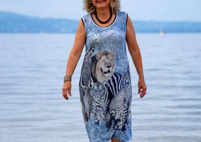 Jerseykleid Afrikaprint