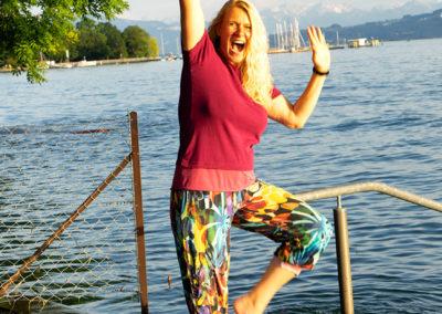 Hose: Schnitt Burda 6/2012, Kaufshirt zu kurz: verlängert mit passendem Jersey
