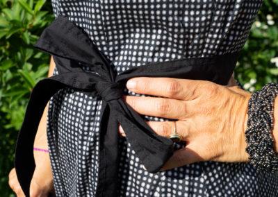 Gürtel aus schwarzer Baumwolle