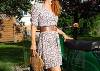 Sommerkleidchen aus fließender Viscose