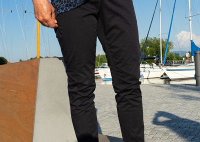 Hose aus Baumwolle/Elasthan aus Burda 1/2018, #107, Sportleggins teilweise abgeändert