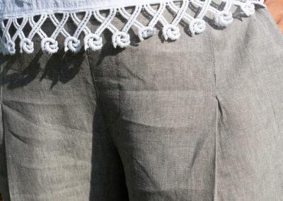 Details: Leinenshirt und Leinenhose