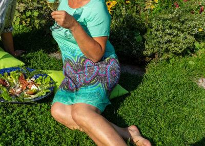 Sommerliches Jerseykleid