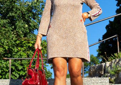 Kleid aus Baumwolljersey im Animalprint