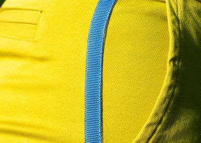 Detail: aufgenähtes Ripsband