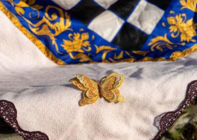 Detail: Wolle-Seidentuch