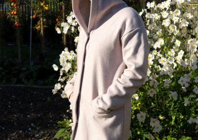 Mantel aus Doubleface-Strickstoff, Schnitt von Kibadoo - (Basic Strickmantel)
