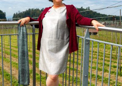Silberkleid mit Vogel: Art teacher, aus Ottobre 5/2014