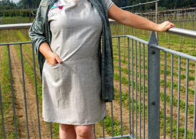 Schal aus Metallic-Jersey, Silberkleid mit Vogel: Art teacher, aus Ottobre 5/2014