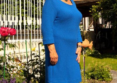 Strickjersey-Kleid
