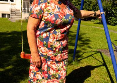 Blumenkleid Baumwolle/Elasthan, Schnitt: Burda auf eigene Bedürfnisse modifiziert