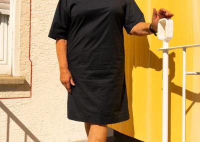 Kleid Popelin/Elasthan, Schnitt: Burda auf eigene Bedürfnisse modifiziert