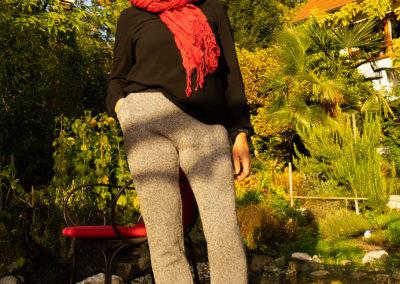 Hose aus Baumwollstrick, Eingrifftaschen (Schnitt eigen)