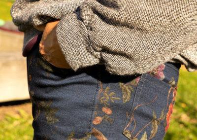 Schnitt: Bootcut Jeans Nähtrends 6/2019, genäht aus einem festen Jersey